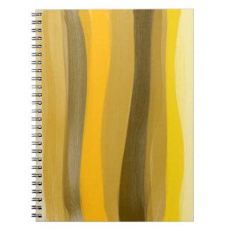 Le jaune ombrage le carnet
