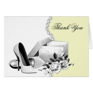 Le jaune perle des cartes de Merci de chaussures