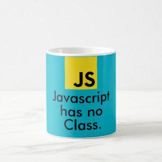 Le Javascript n'a aucune classe Mug Blanc
