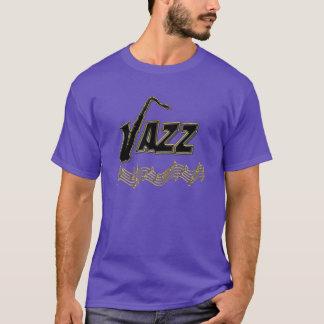 Le jazz de ~ de mélomane de jazz note le saxo t-shirt