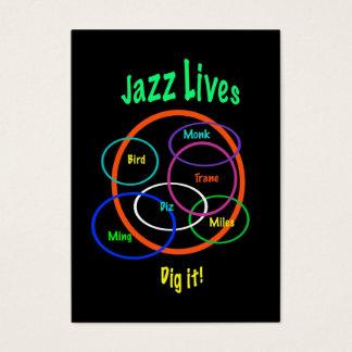 Le jazz vit ATC Cartes De Visite