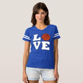 Le Jersey des femmes d'AMOUR de basket-ball de T-shirt