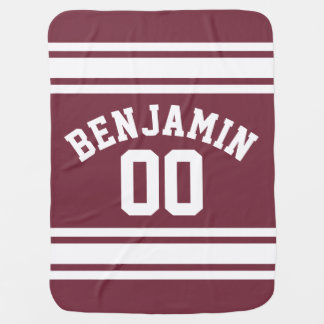 Le Jersey marron et blanc barre le nombre nommé Couverture De Bébé