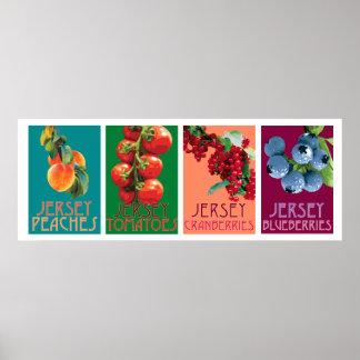 Le Jersey porte des fruits affiche horizontale Poster