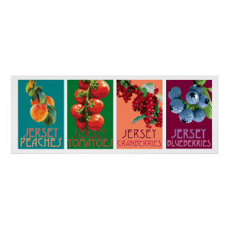 Le Jersey porte des fruits affiche horizontale Posters