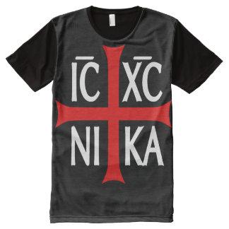 Le Jésus-Christ conquiert, ICXC NIKA T-shirt Tout Imprimé