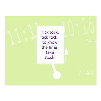 Le jeu de chasse à trésor - indice #1 - horloge carte postale