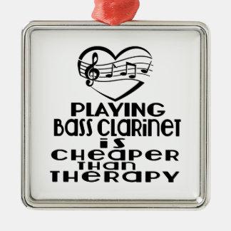 Le jeu de la clarinette basse est meilleur marché ornement carré argenté