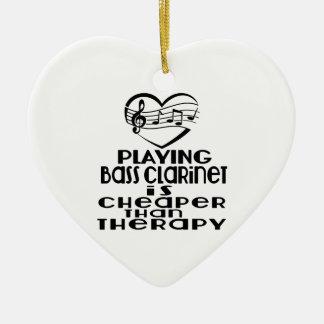 Le jeu de la clarinette basse est meilleur marché ornement cœur en céramique