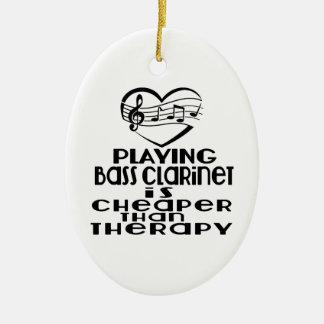 Le jeu de la clarinette basse est meilleur marché ornement ovale en céramique