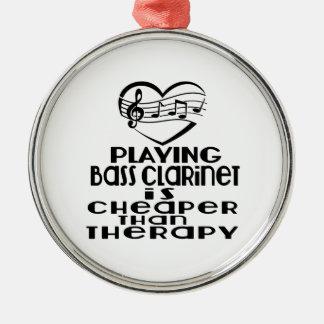 Le jeu de la clarinette basse est meilleur marché ornement rond argenté