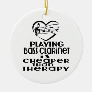 Le jeu de la clarinette basse est meilleur marché ornement rond en céramique
