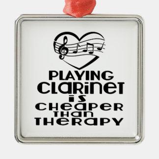 Le jeu de la clarinette est meilleur marché que la ornement carré argenté