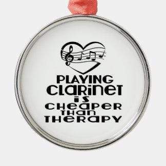 Le jeu de la clarinette est meilleur marché que la ornement rond argenté