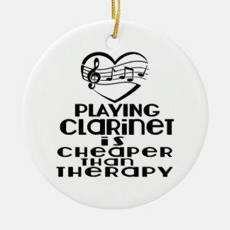 Le jeu de la clarinette est meilleur marché que la ornement rond en céramique