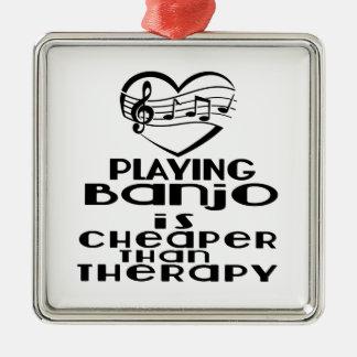 Le jeu du banjo est meilleur marché que la ornement carré argenté
