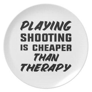 Le jeu du tir est meilleur marché que la thérapie assiettes en mélamine