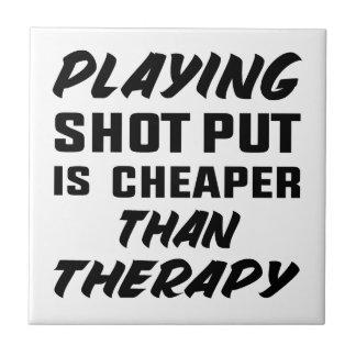 Le jeu du tir Put est meilleur marché que la Carreau