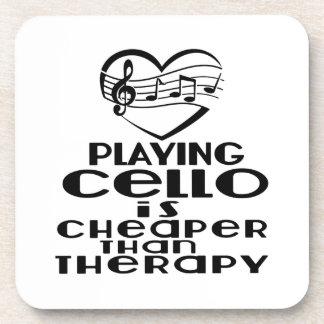 Le jeu du violoncelle est meilleur marché que la dessous-de-verre