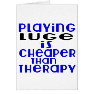 Le jeu Luge meilleur marché que la thérapie Carte De Vœux