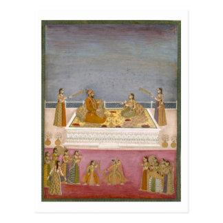 Le jeune empereur de Mughal Muhammad Shah à un Carte Postale