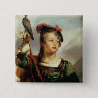 Le jeune fauconnier, 1835 (huile sur le panneau) badges