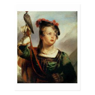 Le jeune fauconnier, 1835 (huile sur le panneau) carte postale