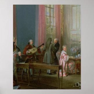 Le jeune Mozart au clavicorde Affiches