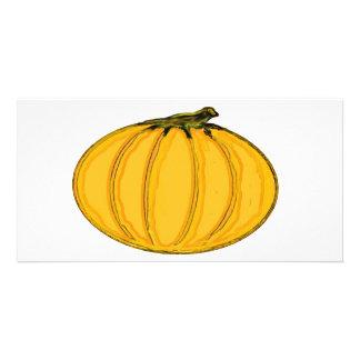Le jGibney Pumpkin7tc100 de série d'artiste de Cartes Avec Photo