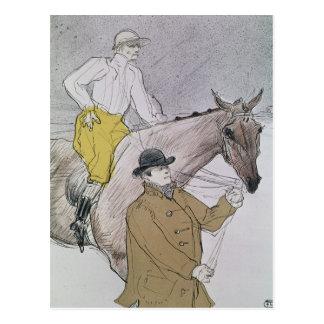 Le jockey mené au début cartes postales
