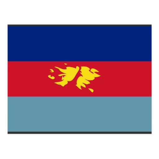 Le joint britannique force   l'île Malouines, Pare Carte Postale