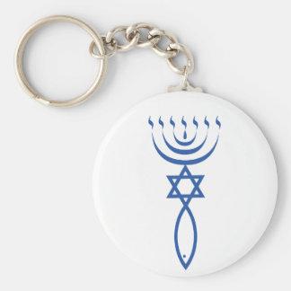 Le joint juif du Messie de Jérusalem Porte-clé Rond