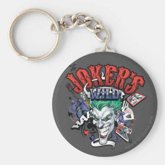 Le joker sauvage porte-clé rond