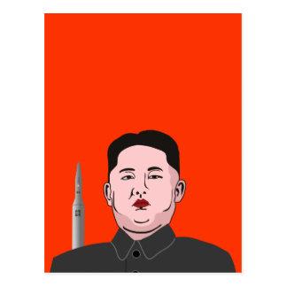 Le Jong-ONU de Kim et missile nucléaire Cartes Postales