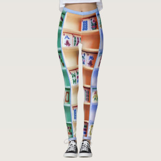 le jongg d'heure-milliampère couvre de tuiles des leggings