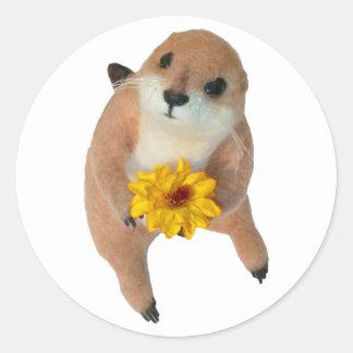 le jouet bourré de chien de prairie adhésifs ronds