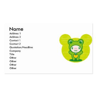 Le jouet bourré de la grenouille carte de visite standard