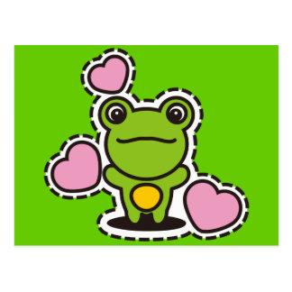 Le jouet bourré de la grenouille cartes postales