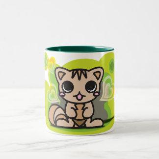 Le jouet bourré de l'écureuil mug bicolore