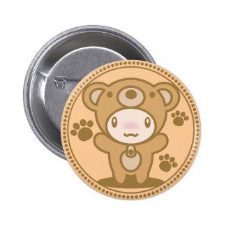 Le jouet bourré de l'ours badge avec épingle