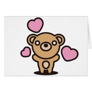 Le jouet bourré de l'ours carte de vœux