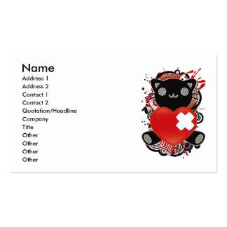 Le jouet bourré du chat carte de visite standard