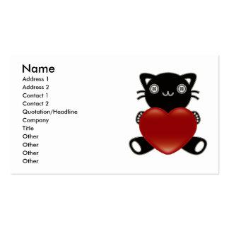 Le jouet bourré du chat cartes de visite professionnelles