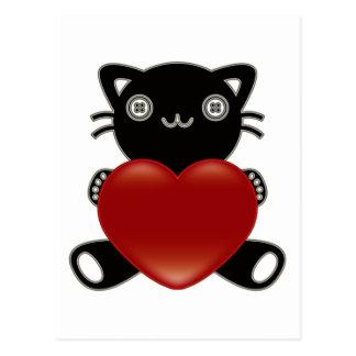 Le jouet bourré du chat cartes postales