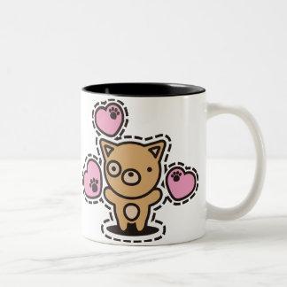 Le jouet bourré du chien mugs à café