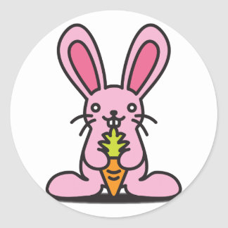Le jouet bourré du lapin adhésifs ronds