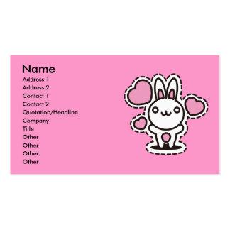 Le jouet bourré du lapin cartes de visite professionnelles