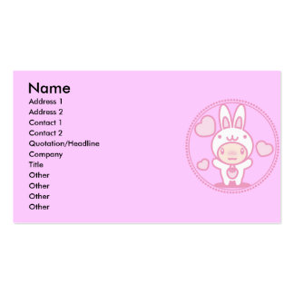 Le jouet bourré du lapin carte de visite standard
