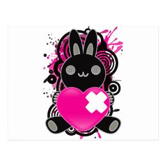 Le jouet bourré du lapin cartes postales
