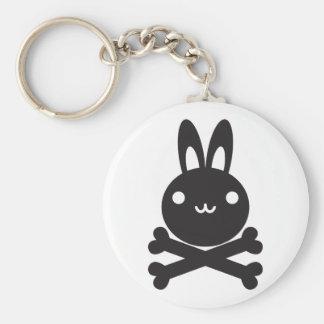 Le jouet bourré du lapin porte-clé rond